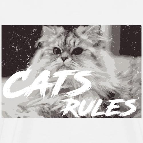 Katzen T Shirt mit Katzenmotiv cats rules 7 - Männer Premium T-Shirt