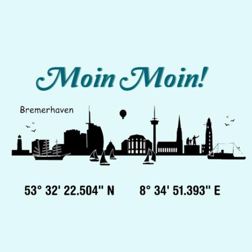 SKYLINE BREMERHAVEN - Männer Premium T-Shirt