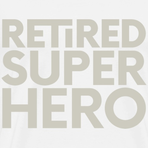 retired superhero - Men's Premium T-Shirt