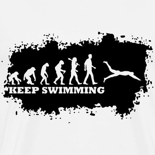 Evolution Of Swimming - Männer Premium T-Shirt