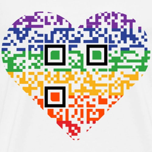 Love is Love | QR-Code | Pride - Männer Premium T-Shirt