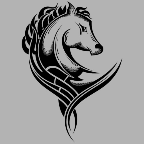 Tribal Pferd - Männer Premium T-Shirt