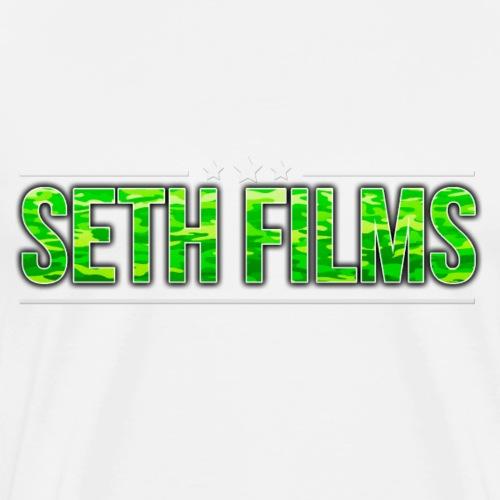 3 STARS SETHFILMS GREEN CAMO png - Men's Premium T-Shirt