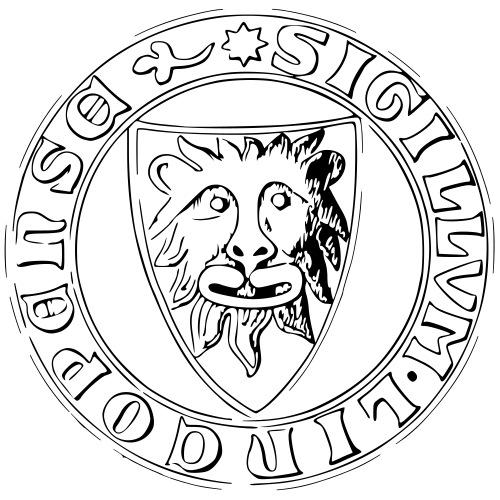 Linköpings Stadssigill - Premium-T-shirt herr