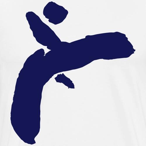 Martial Arts Kick - Slhouette Minimal Wushu Kungfu - Men's Premium T-Shirt