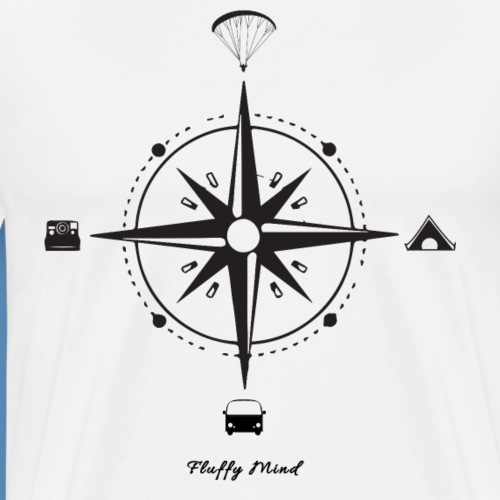 Parapente et Voyage - Follow your own way - T-shirt Premium Homme