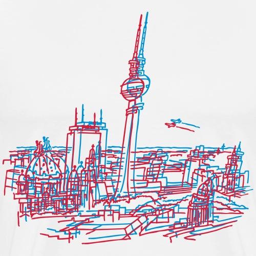 Berlino Panorama - Maglietta Premium da uomo