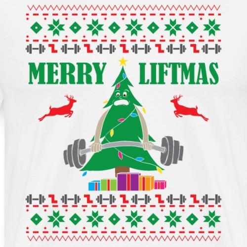 Merry Liftmas Weihnachtsbaum - Männer Premium T-Shirt