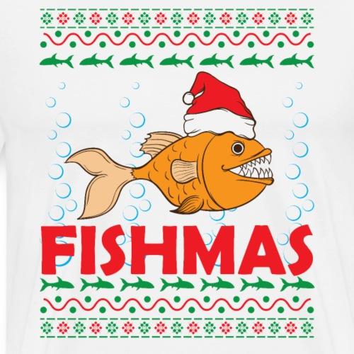 Weihnachten Angeln Fishmas Ugly Christmas - Männer Premium T-Shirt