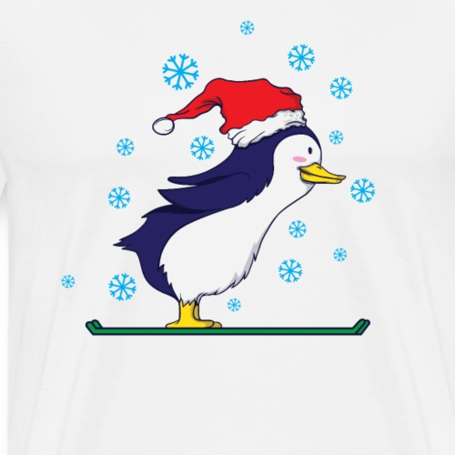 Pinguin Ski Weihnachten - Männer Premium T-Shirt
