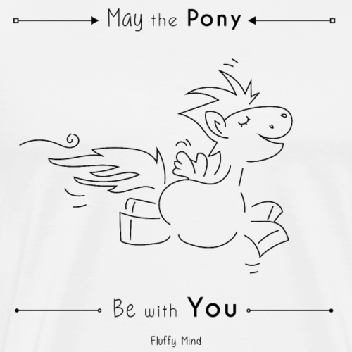 Poney Jedi - May the pony be with you - T-shirt Premium Homme