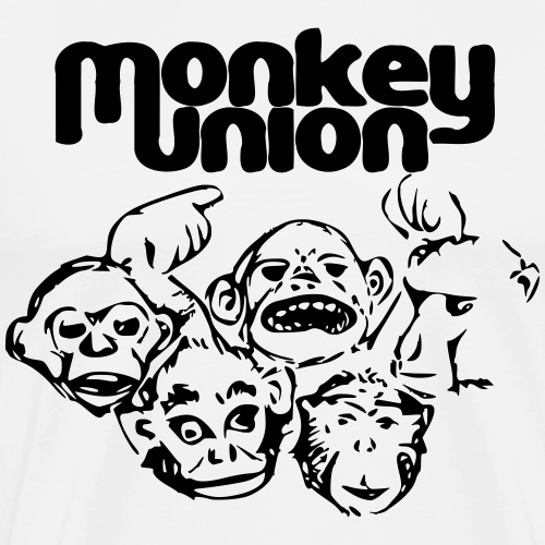 Union of the Monkey Black - Men's Premium T-Shirt