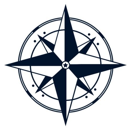 Kompass / Dunkelblau - Design - Männer Premium T-Shirt