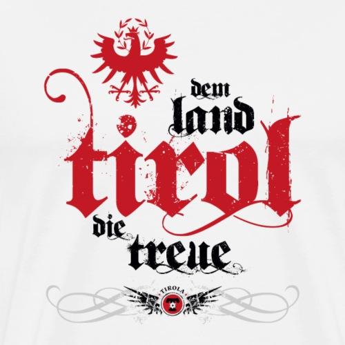 Dem Land Tirol die Treue schwarz - Männer Premium T-Shirt