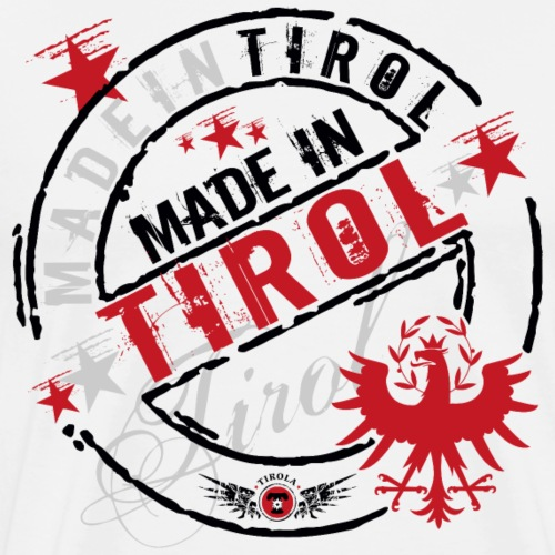 Made in Tirol schwarz - Männer Premium T-Shirt