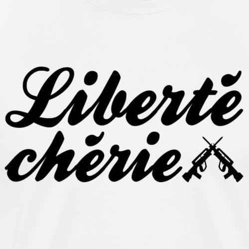 libertecherie black - T-shirt Premium Homme