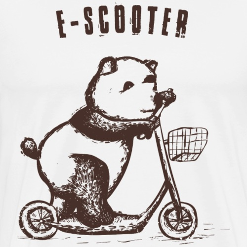 Süßer Panda auf einem Escooter - Männer Premium T-Shirt