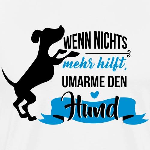 Hund umarmen - Männer Premium T-Shirt