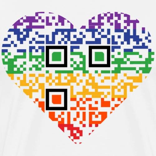 Love is Love | QR code | Pride - Men's Premium T-Shirt