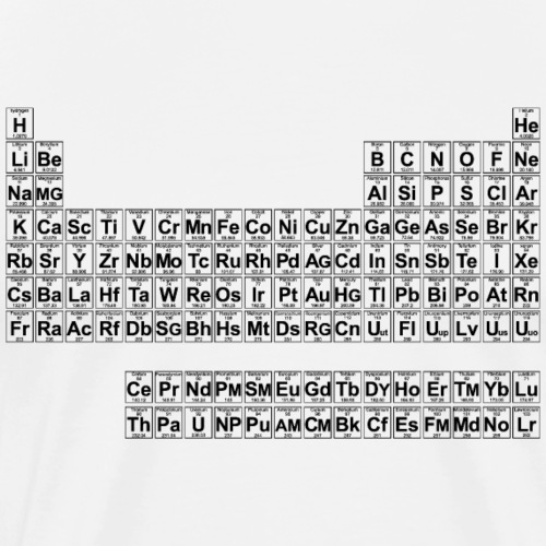 Periodic Table - Full (v2) - Men's Premium T-Shirt