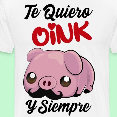 Pareja de cerdito Te quiero oink 1/2 - Camiseta premium hombre