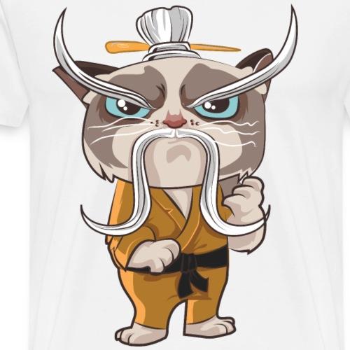 Katzen T Shirt mit Katzenmotiv Hero 3 - Männer Premium T-Shirt