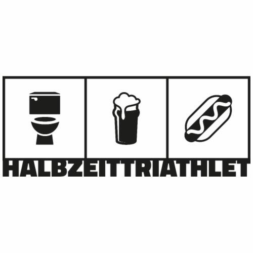 Halbzeittriathlet schwarz - Männer Premium T-Shirt