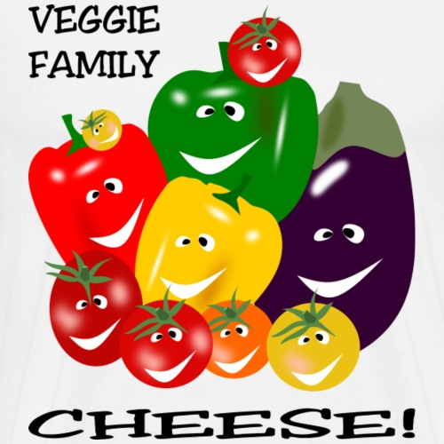 Veggie Family - Cheese - Men's Premium T-Shirt