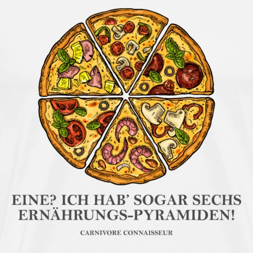 Ernährungspyramide aus Pizza - Männer Premium T-Shirt