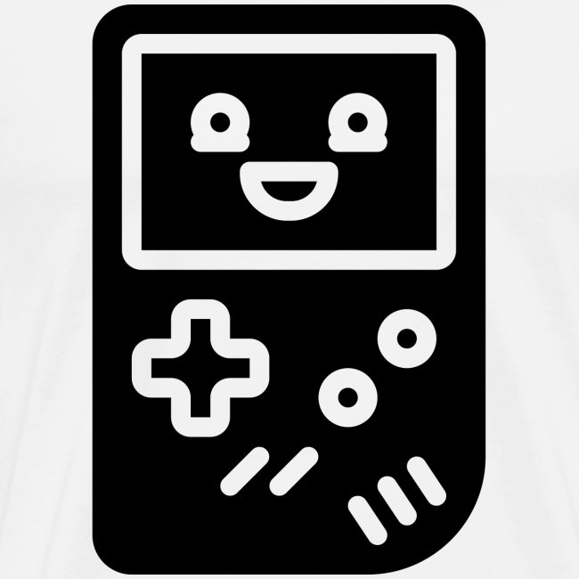 Smiling game console (black, inverted)