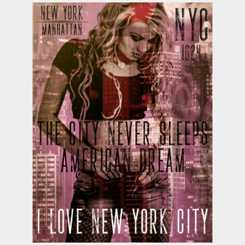 NEW YORK - THE CITY NEVER SLEEPS - DB #1 (SD) - Männer Premium T-Shirt