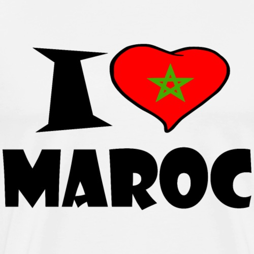Maroc - Marokko - Morocco - I love Maroc - Männer Premium T-Shirt