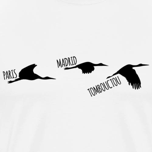 3 destinations oiseau black - T-shirt Premium Homme