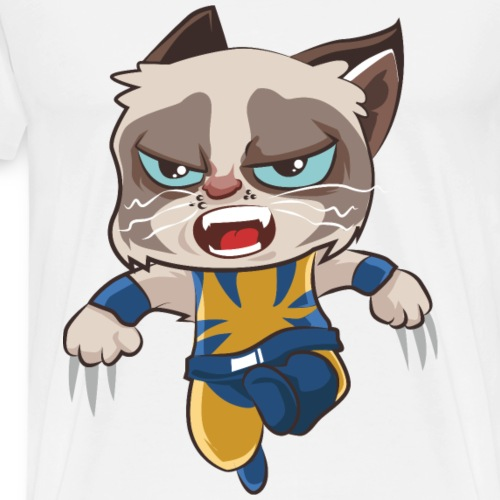 Katzen T Shirt mit Katzenmotiv Hero 5 - Männer Premium T-Shirt