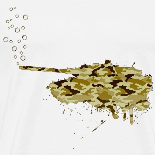 soap bubbles splash tank - Desert Camo