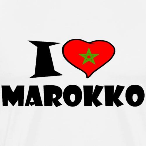 Maroc - Marokko - I love Morocco - Männer Premium T-Shirt