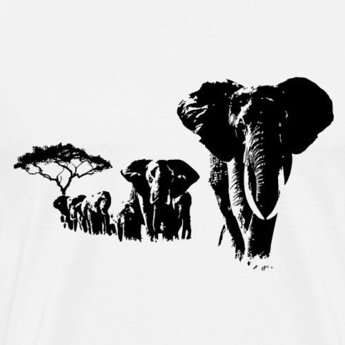 elephants - T-shirt Premium Homme
