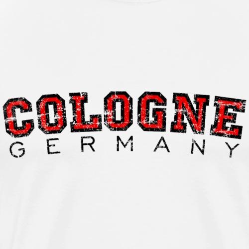 Köln Cologne Germany (Vintage Rot) - Männer Premium T-Shirt