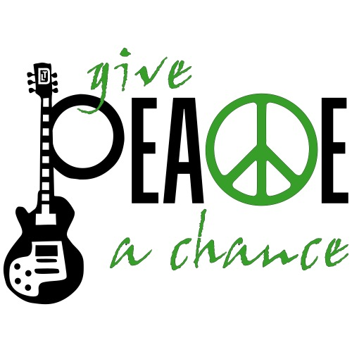 give_ peace_a_chance - Männer Premium T-Shirt