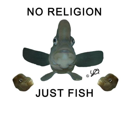 NO RELIGION JUST FISH by Anton Lamboj - Men's Premium T-Shirt