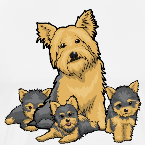 Yorkies & Puppies - Men's Premium T-Shirt