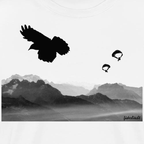 Drei Vögel in der Thermik - Männer Premium T-Shirt