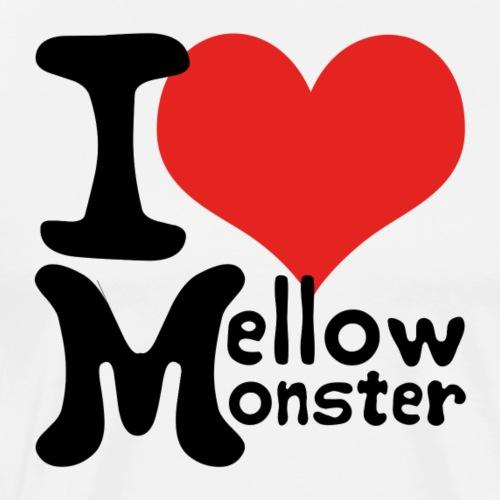Love Mellow Monster - schwarz - Männer Premium T-Shirt