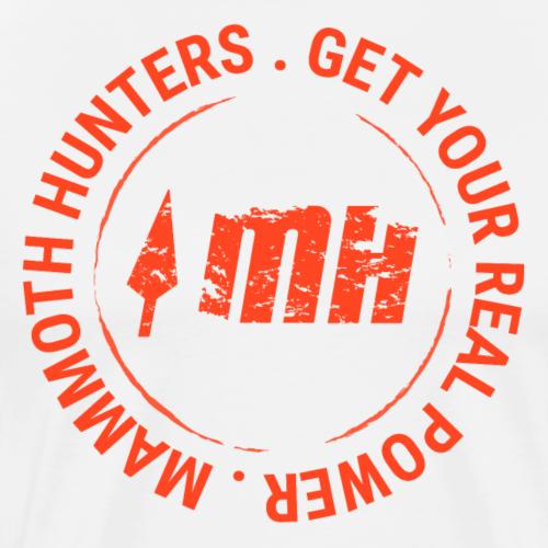 Mammoth Hunters / Círculo naranja - Camiseta premium hombre