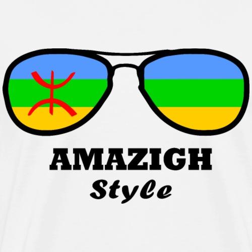 Amazigh Flag - Glasses Style - Men's Premium T-Shirt