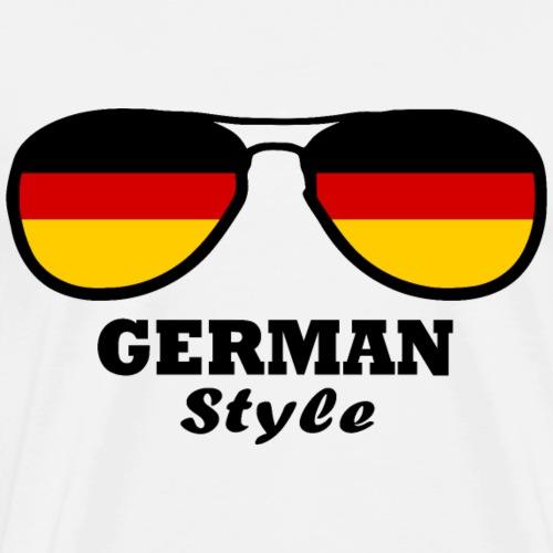 German flag - glasses Styl - Men's Premium T-Shirt