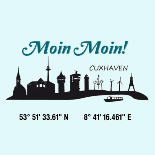 SKYLINE CUXHAVEN - Männer Premium T-Shirt