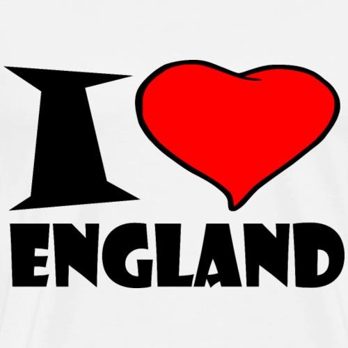 England - I love england - Ich liebe england - Männer Premium T-Shirt