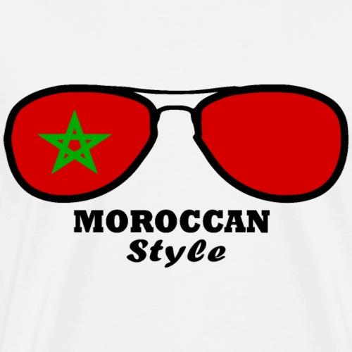 Morocco flag - glasses style - Men's Premium T-Shirt