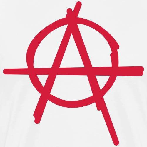 Anarchie Symbol Anarchy Zeichen Punk Logo A Icon - Männer Premium T-Shirt